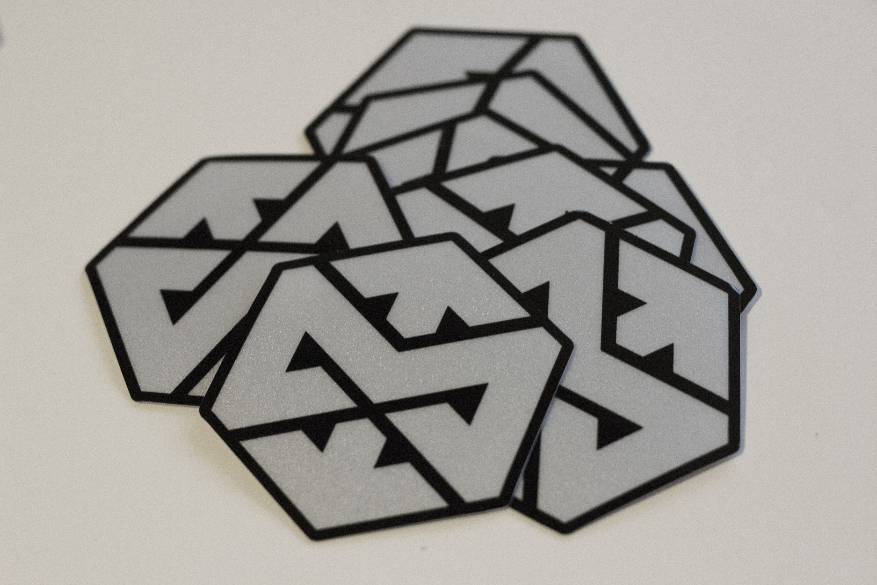 Motonosity Reflective Sticker - Silver