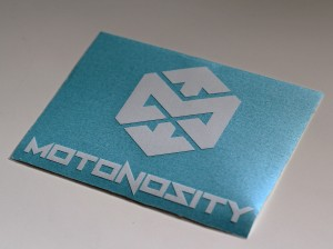 Motonosity Pro-Cut Sticker – White