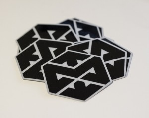Motonosity Reflective Sticker – Black
